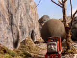 Rusty and the Boulder