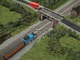Rail Under Road Bridge and Signalbox