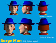 Barge Man CGI Colour Model