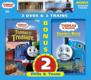 ThomasandtheTreasureandCrankyBugsDVD2-packwithWoodenThomasandToby