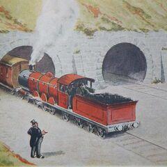 ミドルトン画(赤い機関車A)