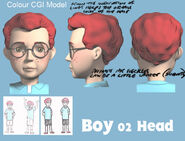 Boy 02 Colour CGI Model Head