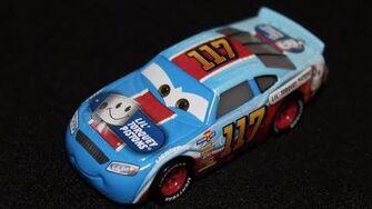 Mattel Disney Cars 3 Ralph Carlow (Lil' Torquey Pistons 117) Piston Cup Racer Die-cast