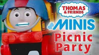 Hilarious Picnic Party with Thomas & Friends MINIS - Playing around with Thomas and Friends