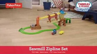 Motorized Railway Sawmill Zipline Set demonstration