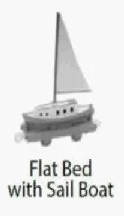 TrackMaster(HiTToyCompany)FlatBedwithSailBoat