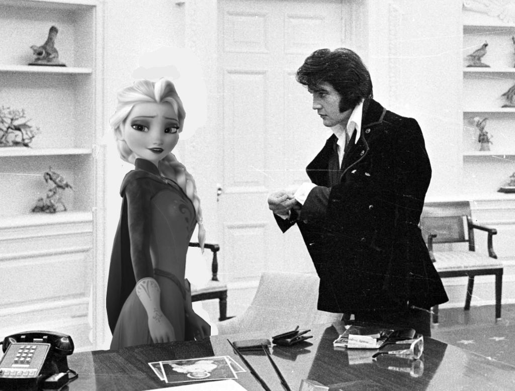Elsa meets Elvis