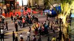 The Teletubbies Movie Grand Finale Dance Sequence Being Filmed On Hollywood Blvd