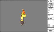 Modelsheet giraffehyooman onfire