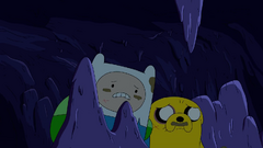 S4 E23 Finn and Jake inside a cave