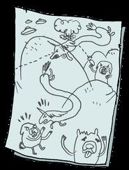Rainicorn Dog Wars Drawing