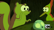 S5 e4 Squirrel talking to the other animals
