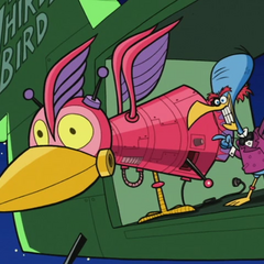 Bird Brain and his thunder cannon.