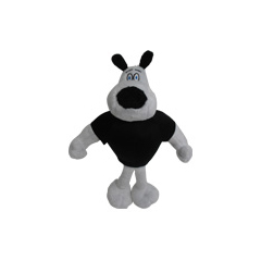 A plush toy of Dudley Puppy.