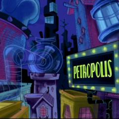 Petropolis at night in <a href=