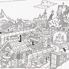 Concept art of Petropolis.