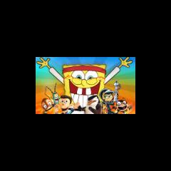 Spongebob in karate outfit
