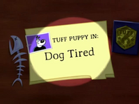 Dog Tired Title Card