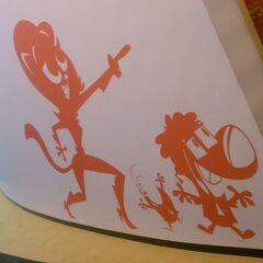 Wall art of Kitty, <a href=