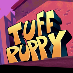 The title of the show before Dudley opens it.
