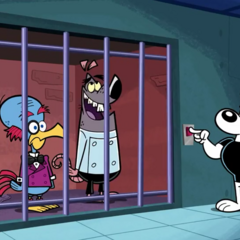 Snaptrap and Bird Brain put back in jail