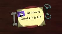 Dead Or A Lie Title Card