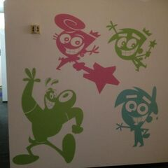 Wall art of Dudley, Cosmo, Wanda, and Timmy at <a href=