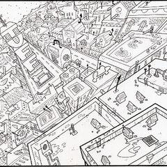 Concept art of Petropolis around <a href=