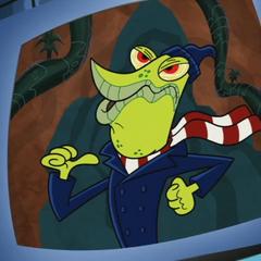 <i>I'm an evil villain. Fear me in my new pea coat.</i>