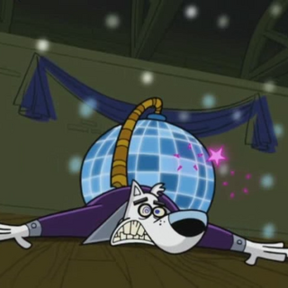 Spike gets crushed by a disco ball.