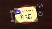 Quacky Birthday (Title Card)