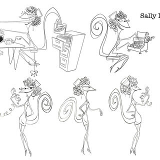Sally Mander's concept sheet.