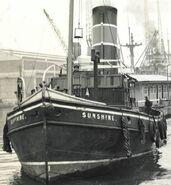 River Thames Tugboat Sunshine