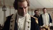 George Washington discusses Reverend Worthington with Benjamin Tallmadge and Caleb Brewster