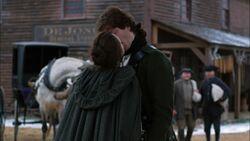 Anna Strong kisses John Graves Simcoe