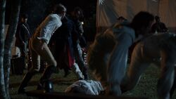 Benjamin Tallmadge and Caleb Brewster fight off fellow Continental officers
