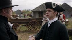 Abraham Woodhull swears allegiance