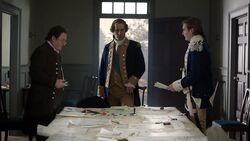 George Washington meets with Benjamin Tallmadge and Nathaniel Sackett