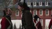 Abraham Woodhull and John Graves Simcoe encountering each other in Virginia