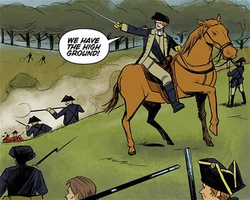 George Washington during the Battle of Harlem Heights 2