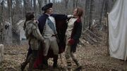 George Washington breaking up the fight