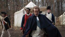 George Washington walks past Benjamin Tallmadge