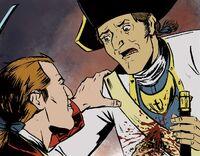 George Washington kills French soldier