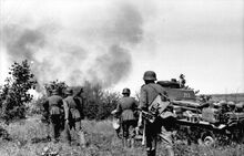 Bundesarchiv Bild 101I-209-0090-28, Russland-Nord, Infanterie und Panzer 35t