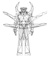 Turok Rage Wars Character Wireframe Symbiot