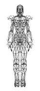 Turok Rage Wars Character Wireframe Adon