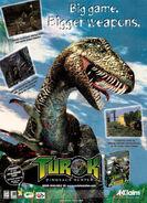 Turok dinosaur hunter promotional art poster