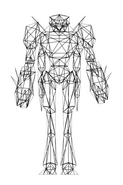 Turok Rage Wars Character Wireframe Mantid Drone