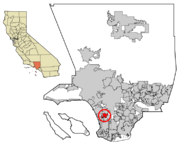 LA County Incorporated Areas Hawthorne highlighted svg
