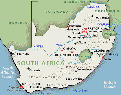 south africa map east london